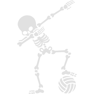 Dab dabbing skeleton (beach) volleyball