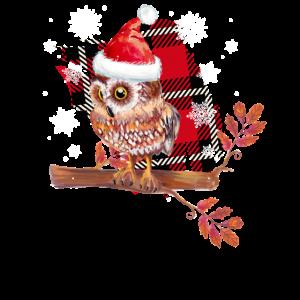 Eule Weihnachten