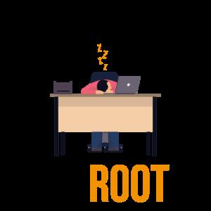 Ein Admin schlaeft nicht er Root Geschenk