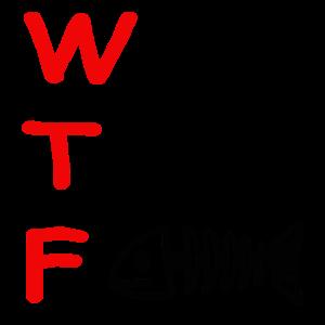 Fish, Fisch Skelett mit WTF Ableitung, Geschenk