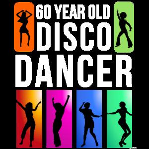Geburtstag 60 Jahre alte Disco-Tänzerin