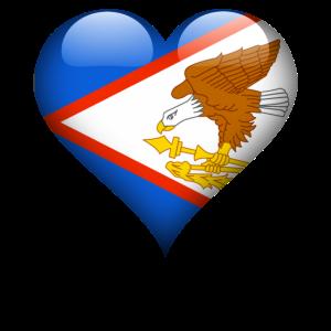 Amerikanisch-Samoanisches Herz Amerikanisch-Samoa