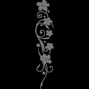 Blumen mit filigranem Ornament. Ärmel Design.