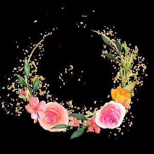 Personalisierbar Blumenkranz romantisch