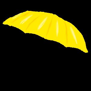 Gelber Regenschirm