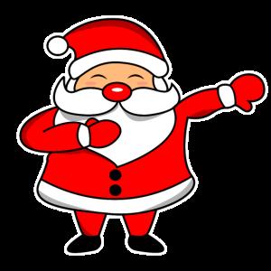 Dabbing Weihnachtsmann Santa Claus