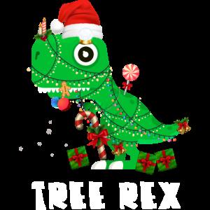 T-Rex Dinosaurier Weihnachtsbaum Witzig Cool