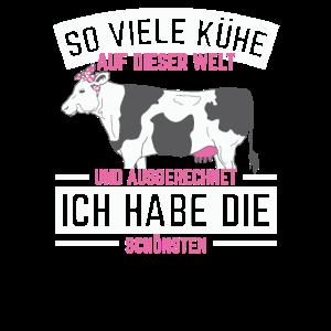 Kuh Landwirt Traktor Cow Dame Mann Herr Sprüche