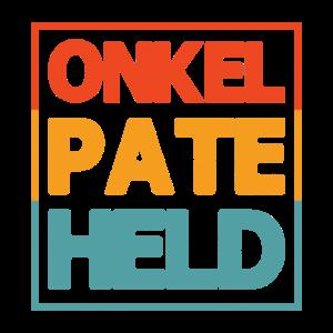 Onkel Pate Held Geschenk für Patenonkel Shirt