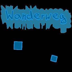 Wanderweg Text Design Farbe Bunt