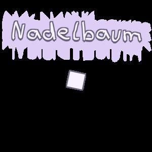 Nadelbaum Text Design Farbe Bunt