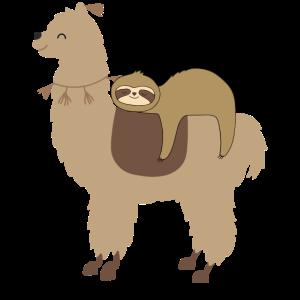 Faultier und Lama