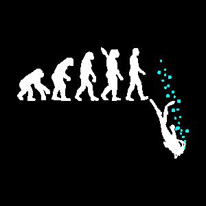 Tauchen Evolution Taucher Lustig Geschenk