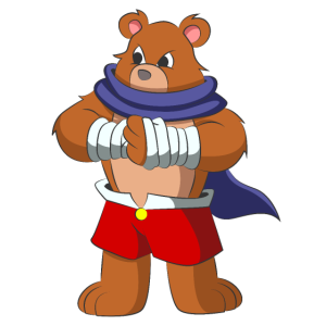 Kämpfender Bär