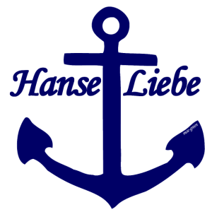 Hanse Liebe-navy print