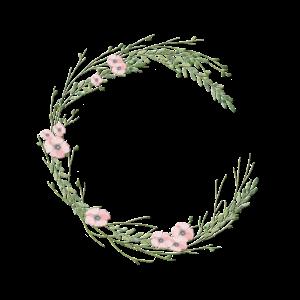 Personalisierbar kleiner Blumenkranz