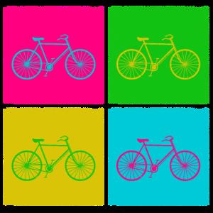 Fahrrad Bike Radfahren Pop Art Geschenkidee