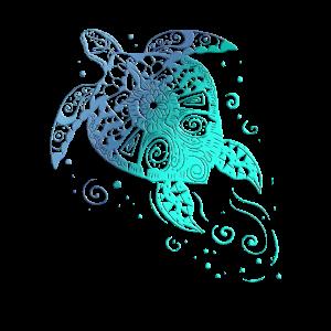 Schildkröten Mandala Ozeanolegen Tattoo Geschenk