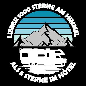 Lieber 1000 Sterne Wohnmobil Shirt Camping
