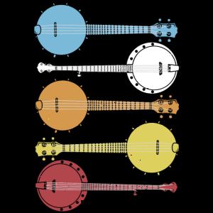 Vintage Banjo Bluegrass Country Musik Retro Banjo