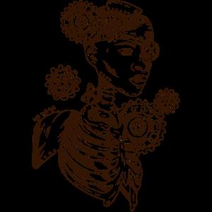 Steampunk mechanisierte Kriegerin