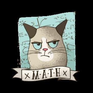 Mathe Katze T-Shirt Geschenk Mathelehrer Lustig
