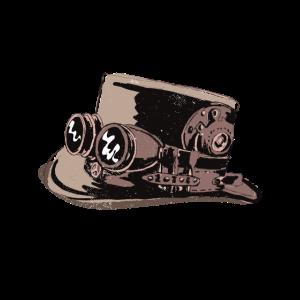 Steampunk Hut mit Retro Brille