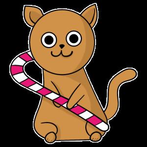 Weihnachts Katze Kitty Mietzekatze Geschenkidee