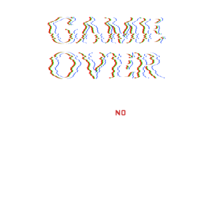 Gaming Game over play again yes no glitch