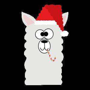 Lama Weihnachtsmütze