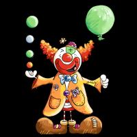 Clown mit Ballon - Zirkus - Tricks - Geschenk