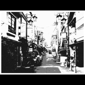 Tokyo Street - Black and White - Schwarzweiß Tokio
