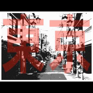 Tokyo Street - Straße in Japan schwarzweiß