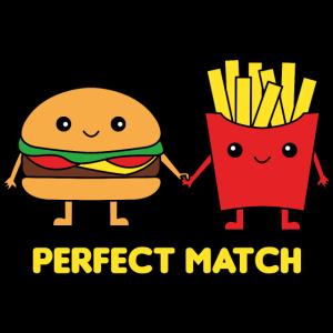 Burger und Pommes