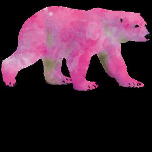 pink polar bear design