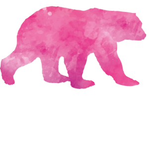 pink polar bear