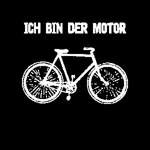 Fahrrad ich bin der Motor cooler Spruch