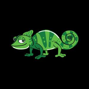 Lustiges Grünes Comic Chamäleon
