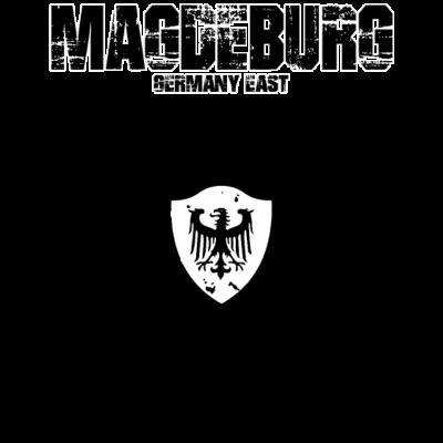 Magdeburg - Heimatstadt, DDR, Deutschland - Wappen,Vintage,Unisex,Totenkopf,Thug,Skull,Rocker,Party,Oldschool,Mythos,Motorrad,Macho,Kult,Heimatland,Heimat,Grafitti,Geschenk,Gangwear,Frühling,Flagge,Festival,Dummer Spruch,Designs,Cooler Spruch,Biker