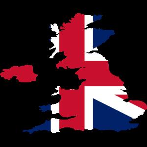 Großbritannien UK Flagge Land Umriss