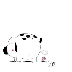 INA 0001 00 Ein fetter furzender Hund