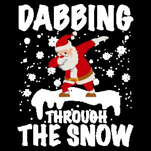 Santa's Dab on the Snow Sankt Dab auf dem Schnee
