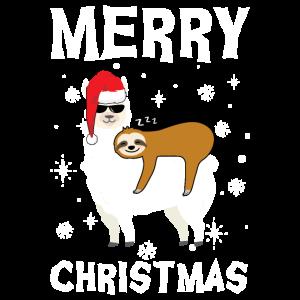 Llama&Sloth Xmas Llama & Sloth Weihnachten