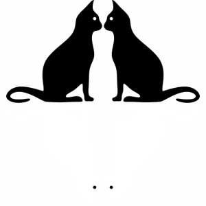 Cats, black and white