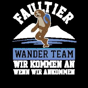 Lustig Sloth Dame Herr Mann Frau Wandern Wanderer