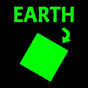 Flache Erde Quadrat
