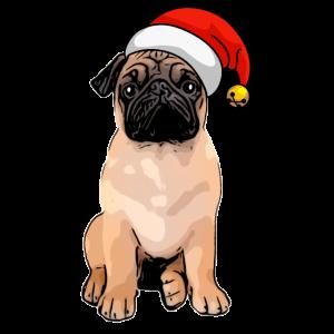 Weihnachts Hund Mops