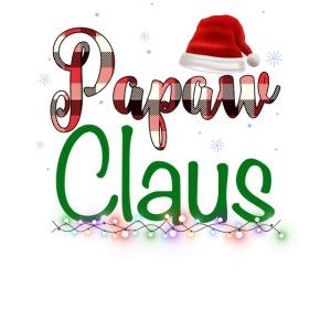 Papaw Claus Plaid Pattern