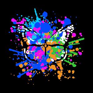 Schmetterling mit bunten Farben