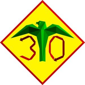 Värikäs juhlavuoden logo